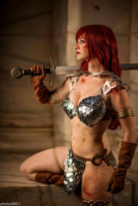 Becky Taka Cosplay as Red Sonja