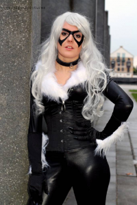 Holly M - Artist and Cosplayer as Black Cat, Oli Mansfield Cosplay as Spider-Man