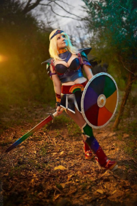 Santana Cosplay as Rainbow Brite/Battle Armor