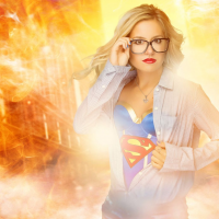 Unknown Female Artist as Supergirl