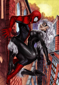 Spider-Man, Black Cat from archaeopteryx14
