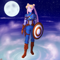 Sailor Moon/Captain America from Jei Shepard