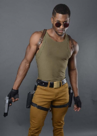 Devante Jones as Lara Croft
