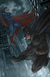 Batman, Superman from Derek Weselake