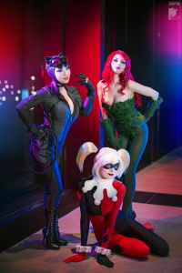 Rei Doll as Poison Ivy, Ryoko Demon as Harley Quinn, Yaya Han as Catwoman