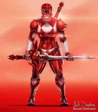 Red Power Ranger from Isaiah Stephens