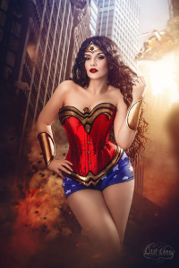 La Esmeralda as Wonder Woman