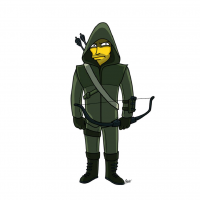 Green Arrow/The Simpsons from Adrien Noterdaem