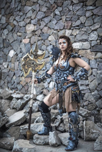 Euge Moyano Cosplay as Barbarian
