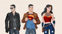 Wonder Woman, Batman, Superman from Glorya Art