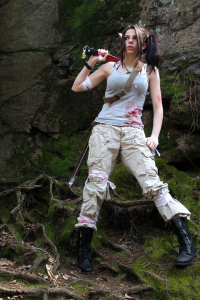Ryuu Lavitz as Lara Croft