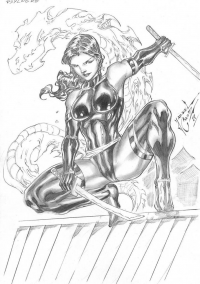 Psylocke from Jardel Cruz