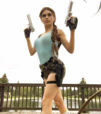 Amouranth - Kaitlyn Siragusa as Lara Croft