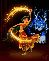 Princess Jasmine/Firebender from Robby Cook