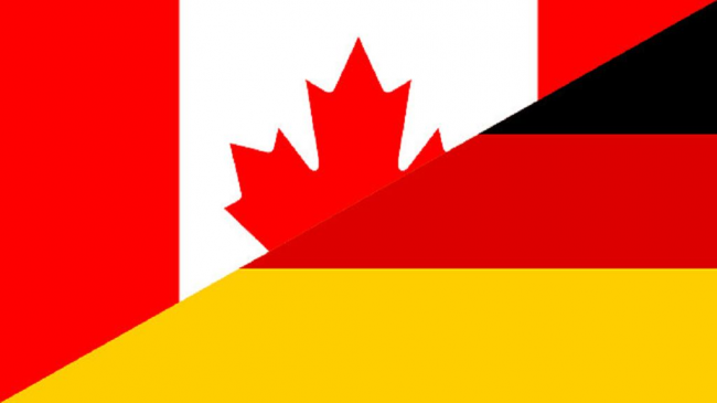 Canada & Germany Flag