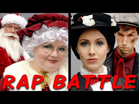Mrs Claus vs Mary Poppins - Princess Rap Battle