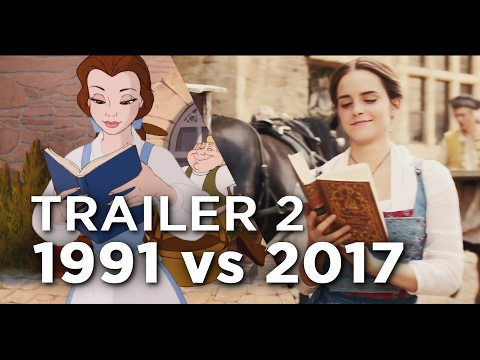 Beauty And The Beast Trailer 2 - 1991 vs 2017 Comparison