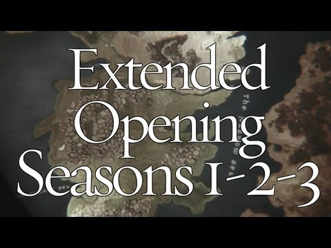 Game Of Thrones : Extended Opening (Castles From Seasons 1-2-3)