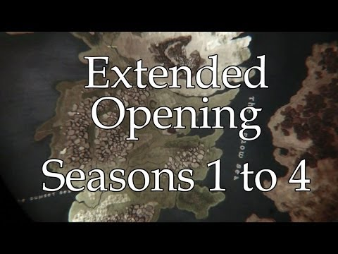 Game Of Thrones : Extended Opening (Castles From Seasons 1-4)