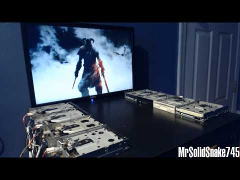 Sons Of Skyrim Remake On Eight Floppy Drives