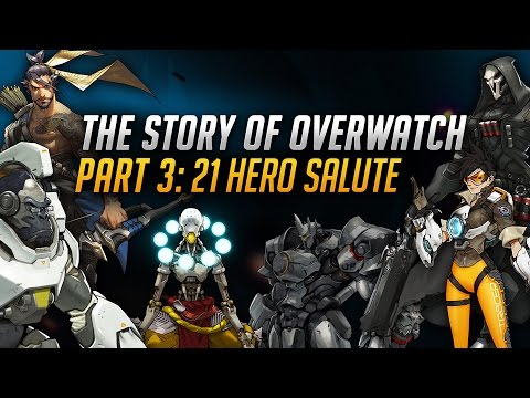 The Story of Overwatch: 21 Hero Salute